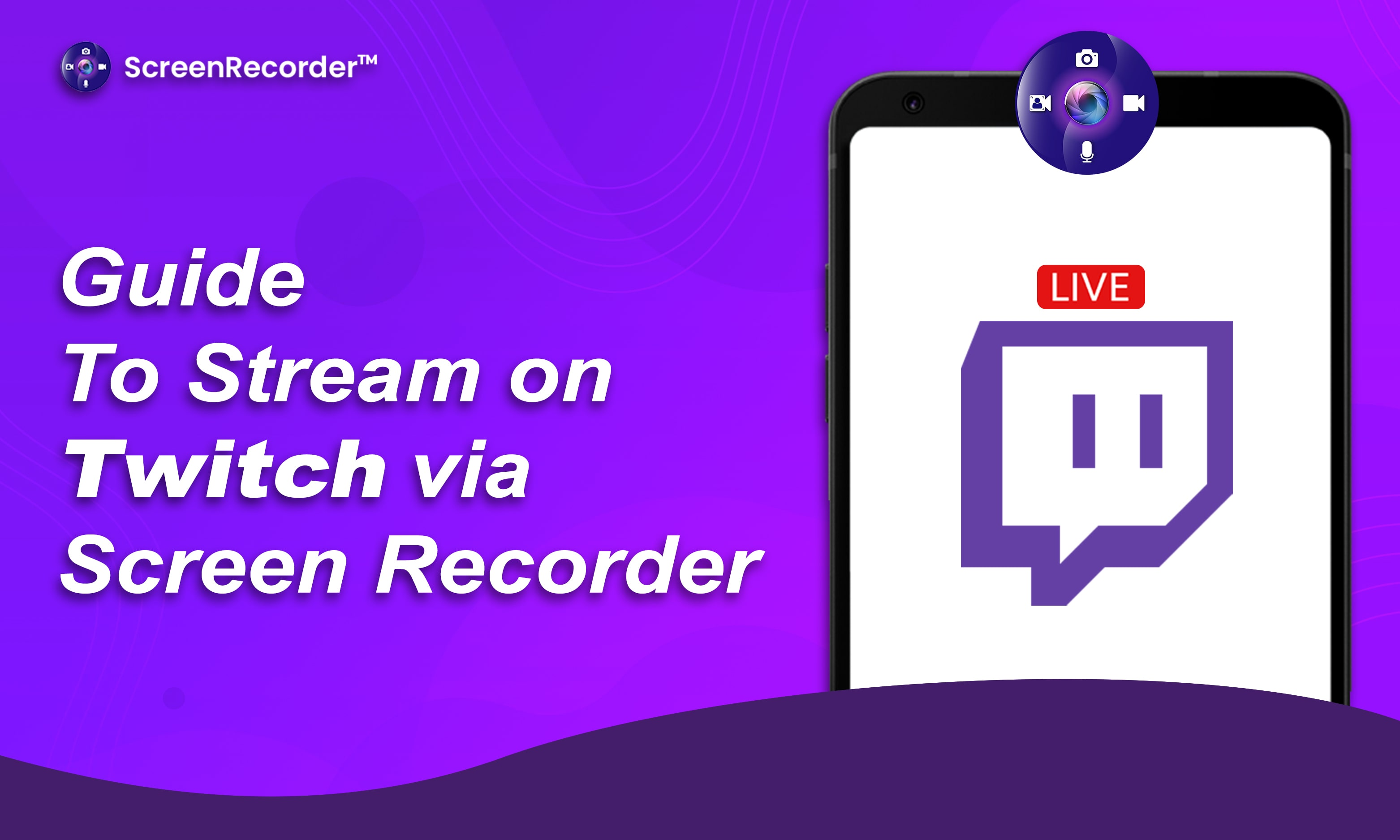 Guide to stream on Twitch via Screen Recorder