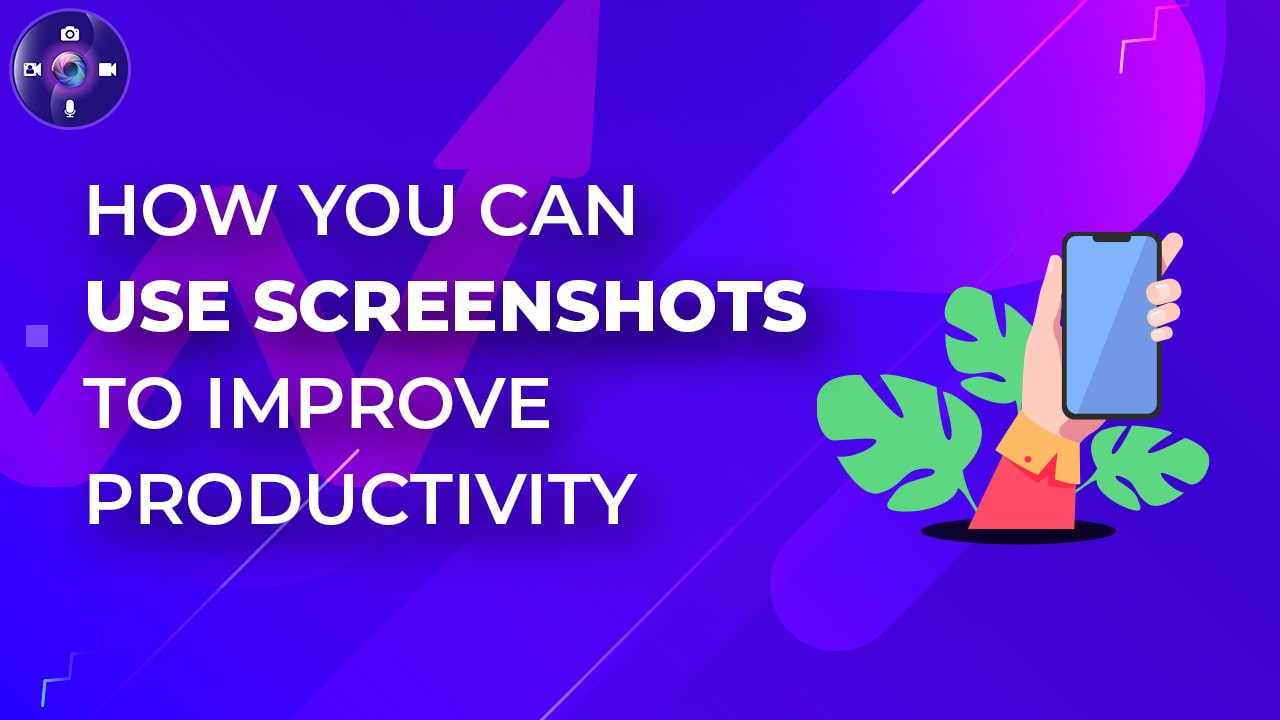 How can you use screenshots to improve productivity?